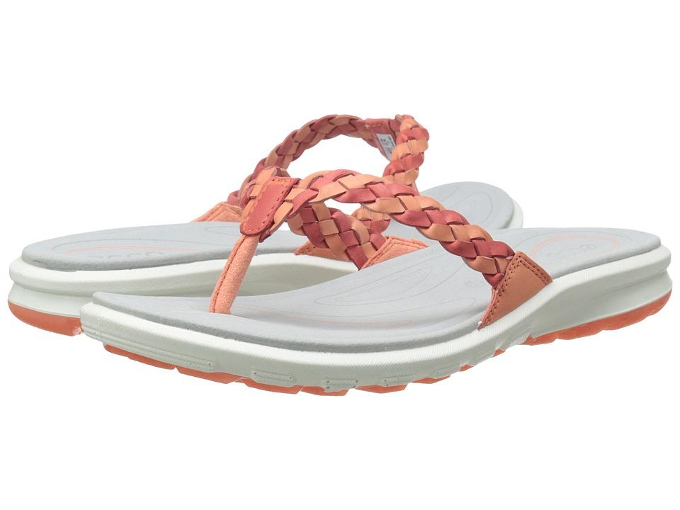 ECCO Sport - Cruise Thong Sandal (Coral/Poppy) Women
