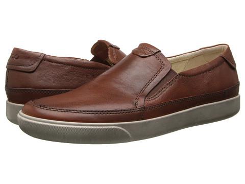 ECCO - Gary Slip-On (Cognac) Men's Slip on Shoes