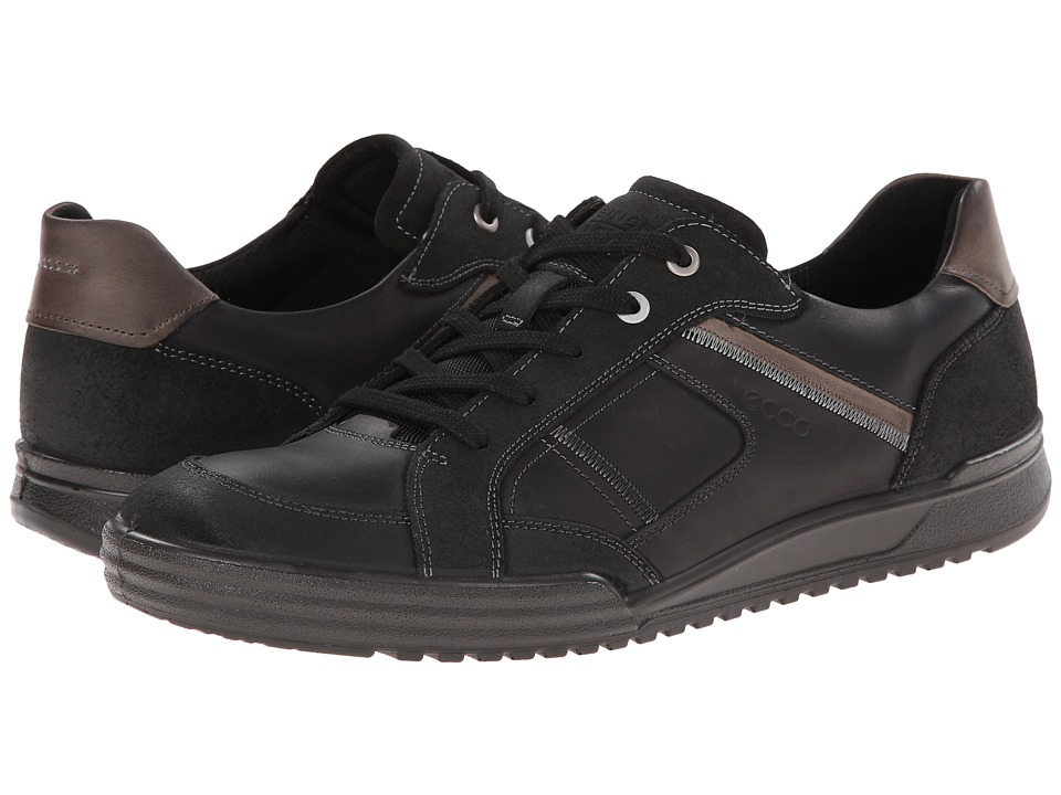 ECCO - Fraser Casual Tie (Black/Black/Warm Grey) Men's Shoes