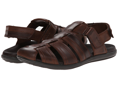 ECCO - Chander Closed Toe Sandal (Cocoa Brown/Coffee) Men