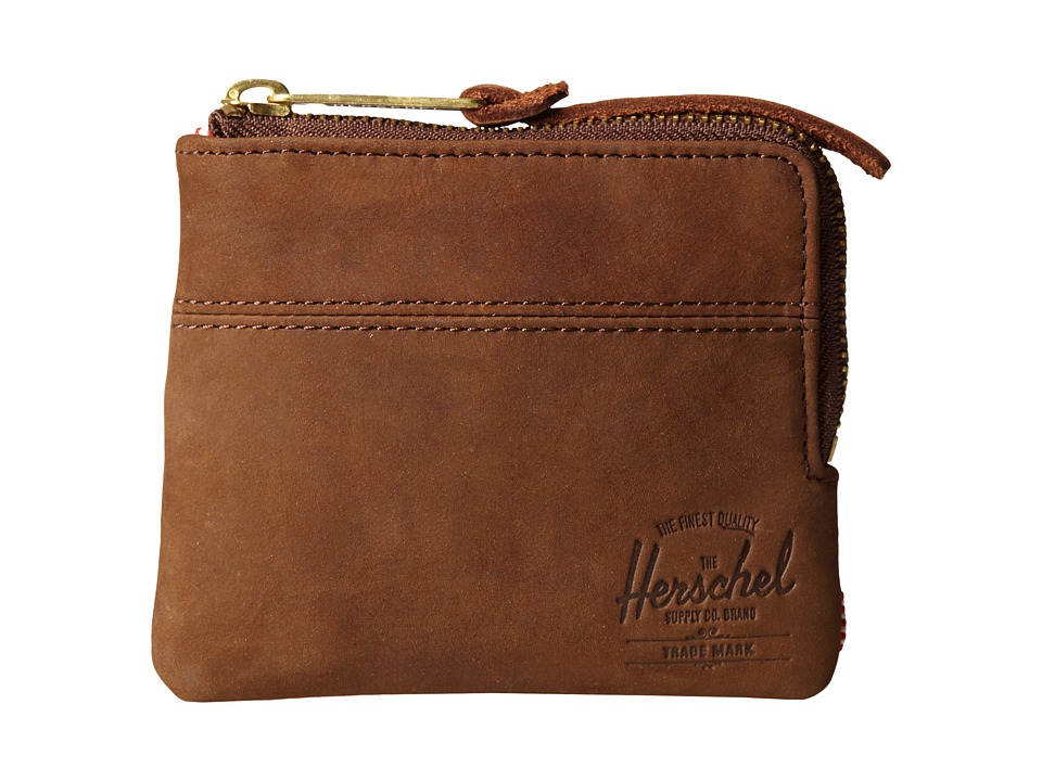 Herschel Supply Co. - Johnny Plus (Brown Nubuck) Wallet Handbags