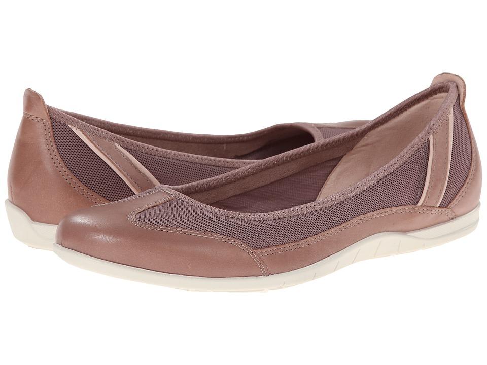 ECCO - Bluma Summer Ballerina (Woodrose/Woodrose/Rose Dust) Women's Shoes