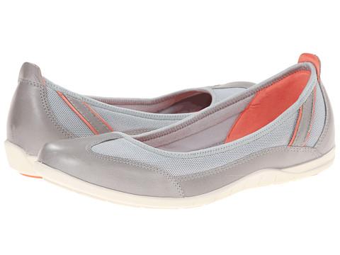 ECCO - Bluma Summer Ballerina (Wild Dove/Concrete/Coral) Women's Shoes