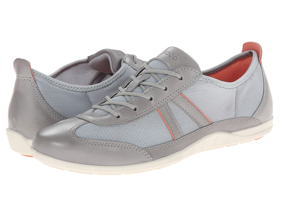 ECCO - Bluma Summer Sneaker (Wild Dove/Concrete/Coral) Women's Shoes