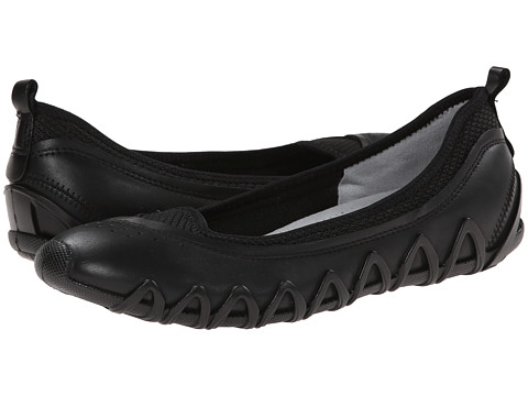 ECCO - Dayla Ballerina (Black/Black) Women's Shoes