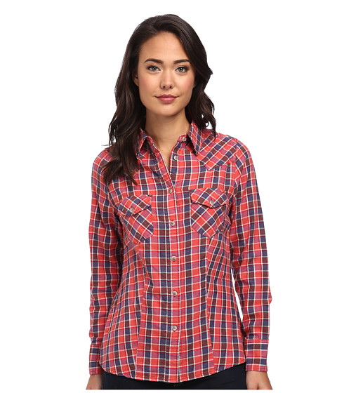 Jag Jeans - Rio Shirt Semi Fitted in Red/Blue Plaid (Red/Blue Plaid) Women's Long Sleeve Button Up