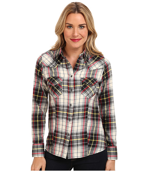 Jag Jeans - Rio Shirt Semi Fitted in Grey/Red Plaid (Grey/Red Plaid) Women