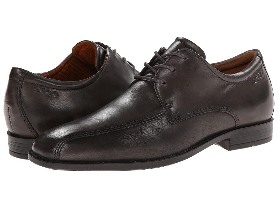 ECCO - Edinburgh Bike Toe Tie (Warm Grey) Men's Slip-on Dress Shoes