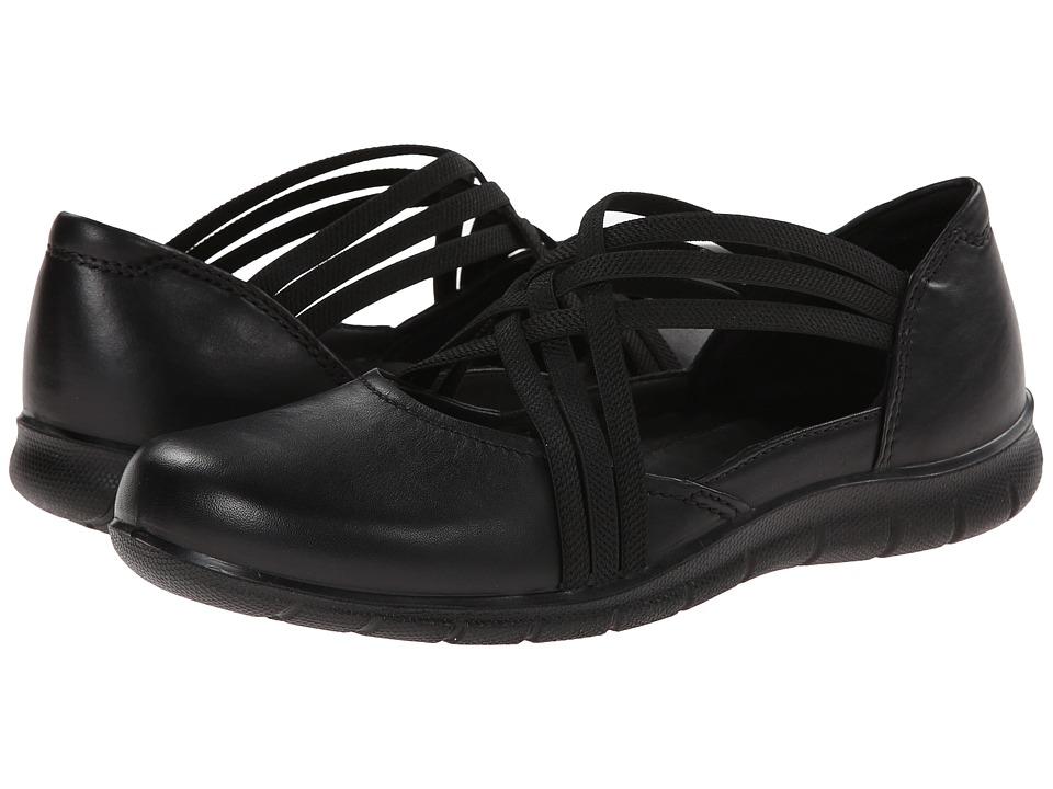 ECCO Babett Clog Strap (Black) Women