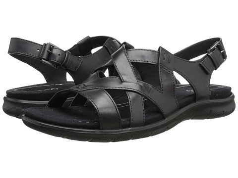ECCO - Babett Sandal Cross Strap (Black) Women