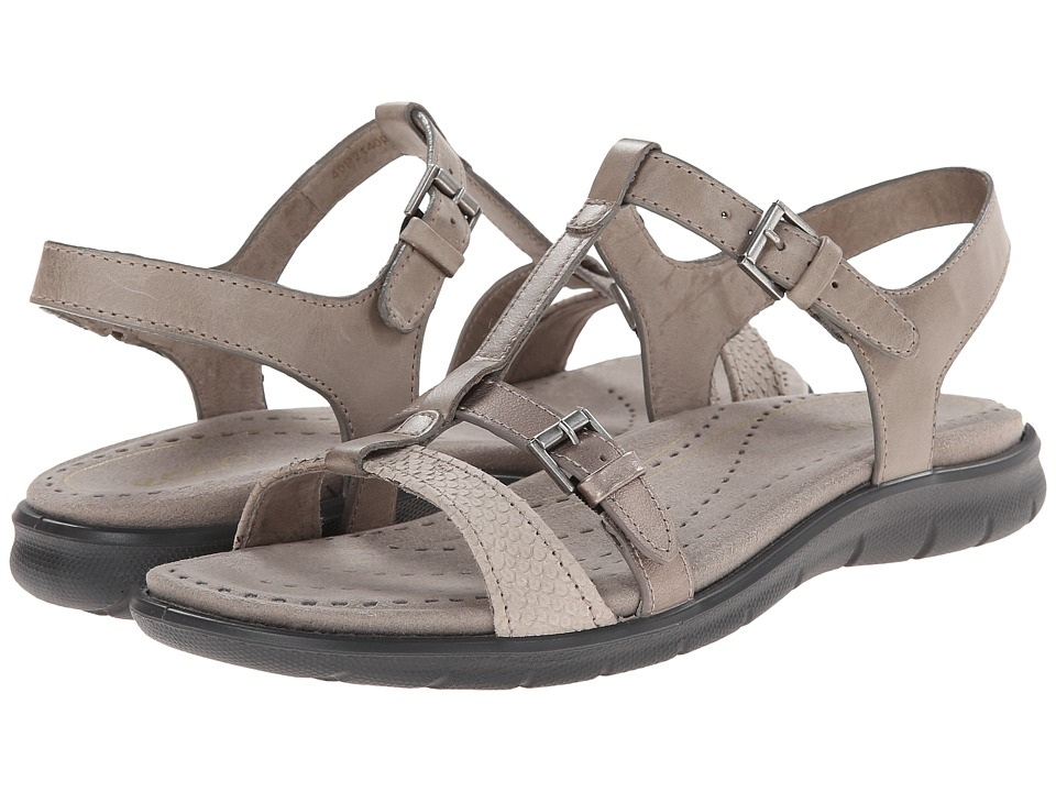 ECCO - Babette Sandal T-Strap (Moon Rock/Moon Rock) Women's Sandals