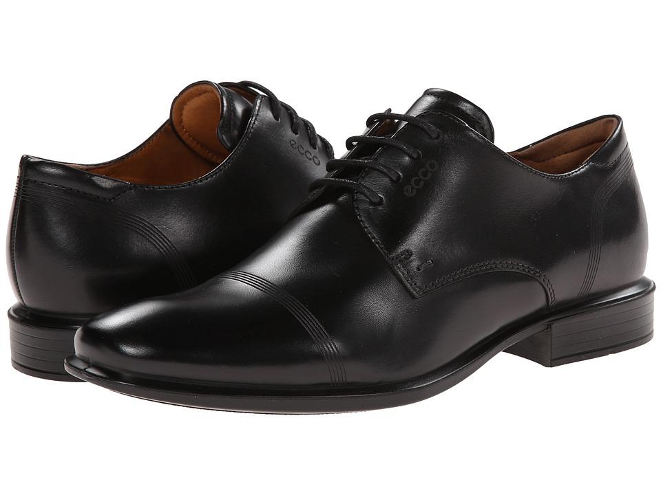 ECCO - Cairo Modern Cap Toe Tie (Black) Men's Lace Up Cap Toe Shoes