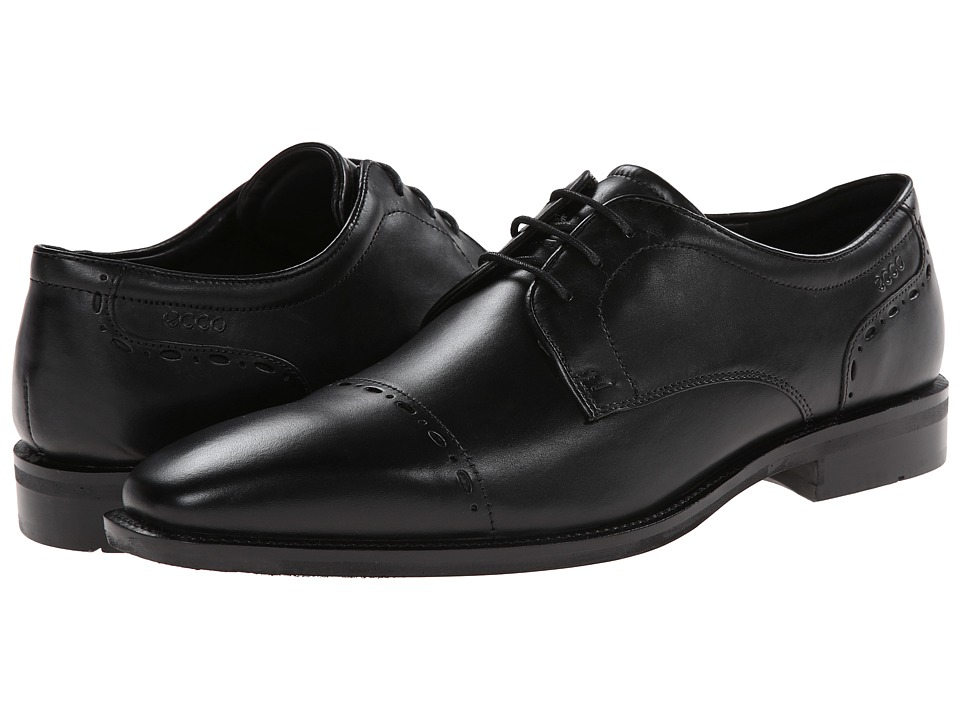 ECCO - Faro Cap Toe Tie (Black) Men