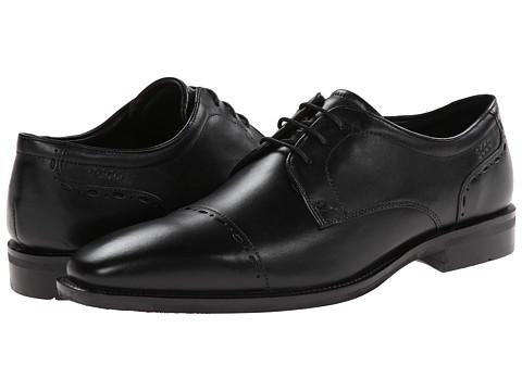 ECCO - Faro Cap Toe Tie (Black) Men's Lace Up Cap Toe Shoes