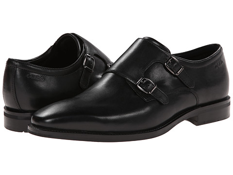 ECCO - Faro Buckle (Black) Men's Plain Toe Shoes