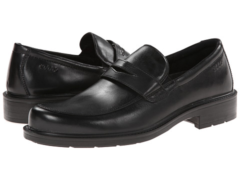 ECCO - Boston Slip-On (Black) Men's Slip-on Dress Shoes