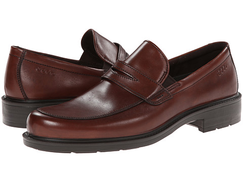 ECCO - Boston Slip-On (Mink) Men's Slip-on Dress Shoes