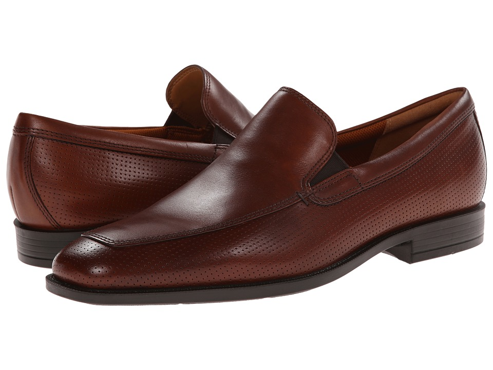 ECCO - Edinburgh Perforated Slip-On (Mink) Men's Slip-on Dress Shoes