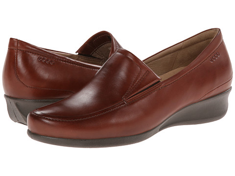 ECCO - Abelone Slip On (Mahogany) Women's Wedge Shoes
