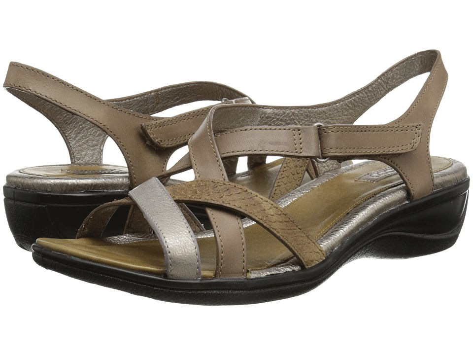 ECCO - Sensata Cross Strap Sandal (Navajo Brown/Moon Rock/Navajo Brown) Women's Sandals plus size,  plus size fashion plus size appare