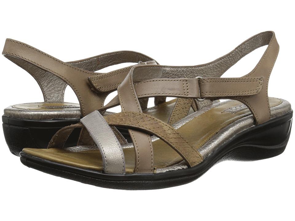 ECCO - Sensata Cross Strap Sandal (Navajo Brown/Moon Rock/Navajo Brown) Women's Sandals plus size,  plus size fashion plus size appare