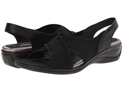 ECCO - Sensata Stretch Sandal (Black) Women's Shoes