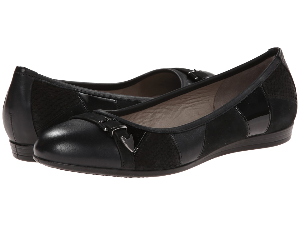 ECCO - Touch 15 Buckle (Black/Black) Women's Shoes