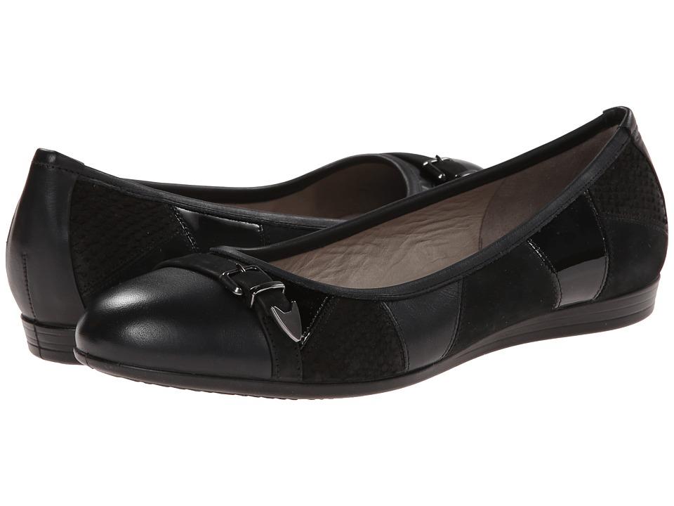 ECCO - Touch 15 Buckle (Black/Black) Women's Shoes