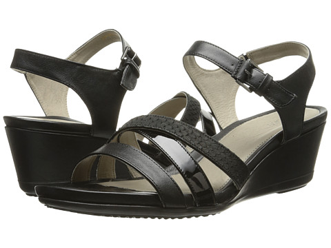 ECCO - Touch 45 Wedge Sandal (Black/Black) Women