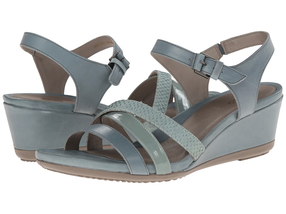 ECCO - Touch 45 Wedge Sandal (Trooper/Ice Flower/Ice Flower) Women's Wedge Shoes
