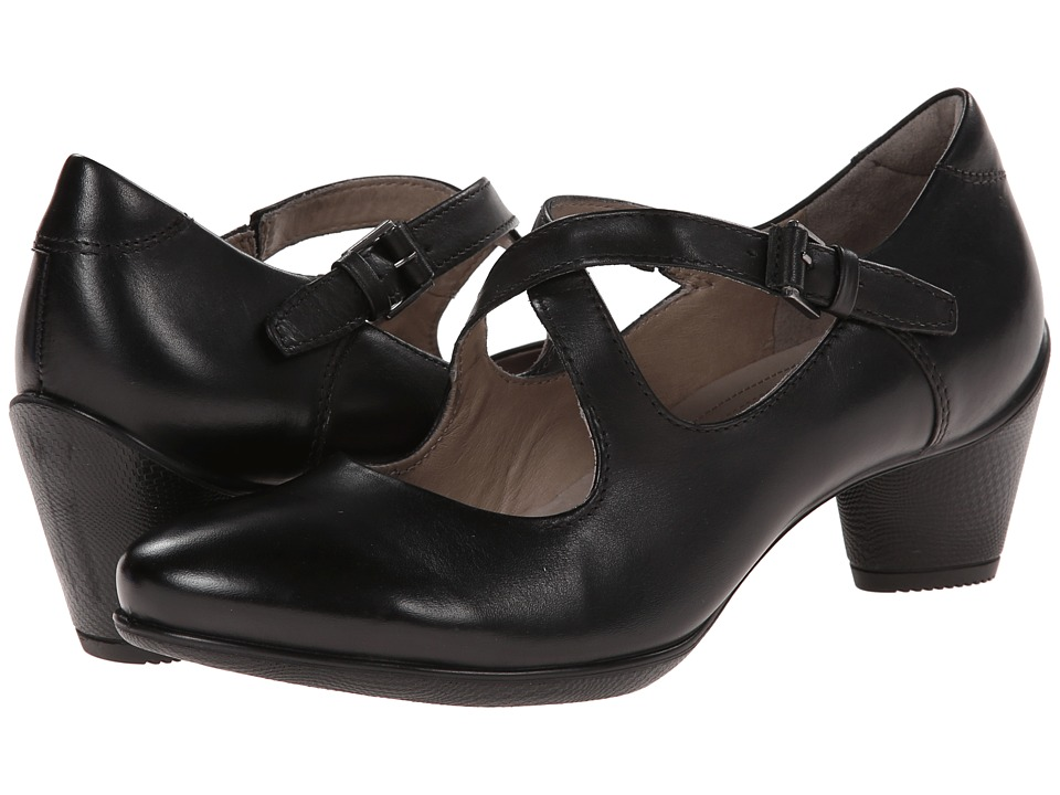 ECCO - Sculptured 45 Strap (Black) Women's Shoes