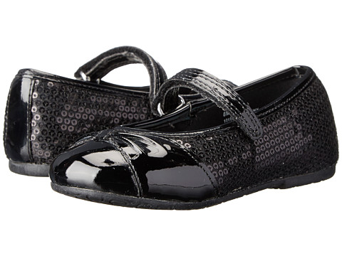 Rachel Kids - Lil Destiny (Toddler/Little Kid) (Black Sequins) Girls Shoes