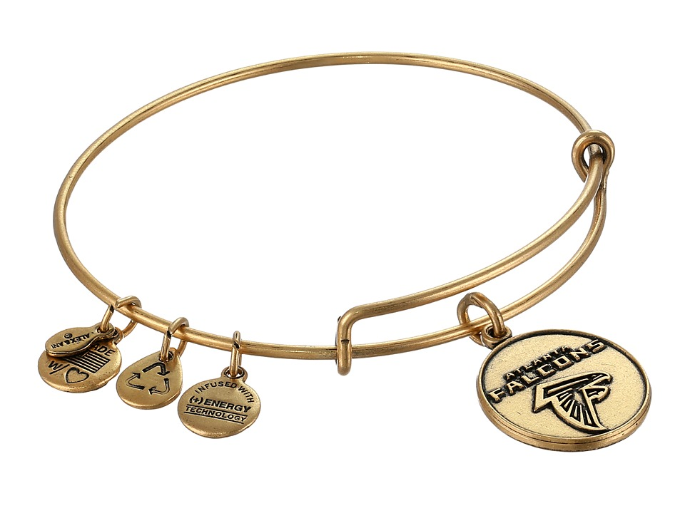 Alex and Ani - Atlanta Falcons Logo Charm Bangle (Rafaelian Gold Finish) Bracelet