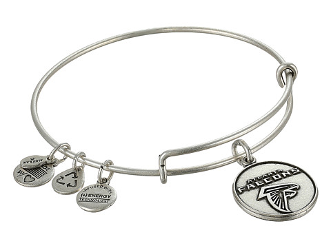 Alex and Ani - Atlanta Falcons Logo Charm Bangle (Rafaelian Silver Finish) Bracelet