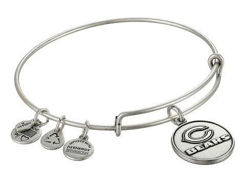 Alex and Ani - Chicago Bears Logo Charm Bangle (Rafaelian Silver Finish) Bracelet