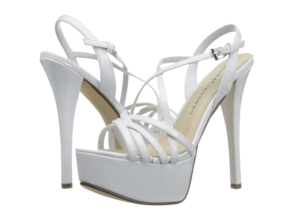 Chinese Laundry - Teaser Platform Sandal (White Patent) High Heels