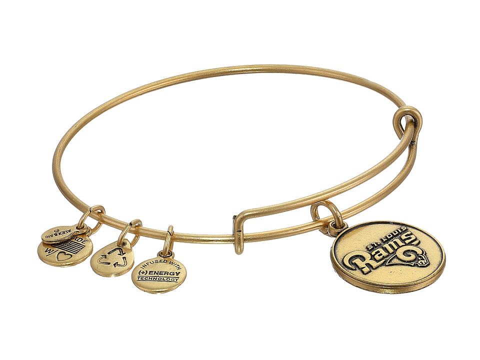 Alex and Ani - St. Louis Rams Logo Charm Bangle (Rafaelian Gold Finish) Bracelet