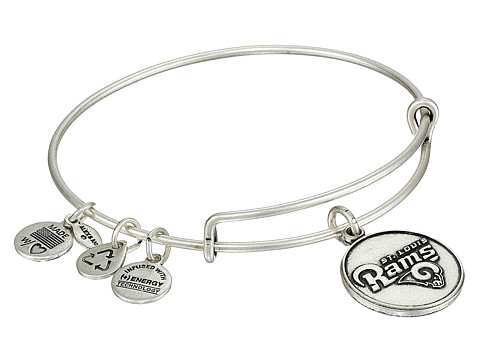 Alex and Ani - St. Louis Rams Logo Charm Bangle (Rafaelian Silver Finish) Bracelet