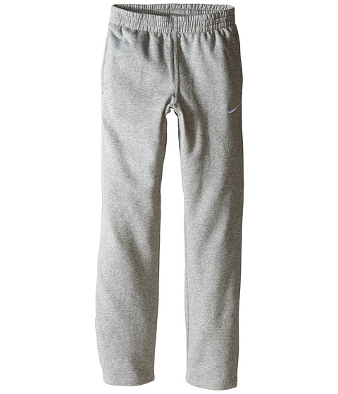 Nike Kids - N45 BF SL Pant (Little Kids/Big Kids) (Dark Grey Heather/Gym Red/White) Boy's Workout