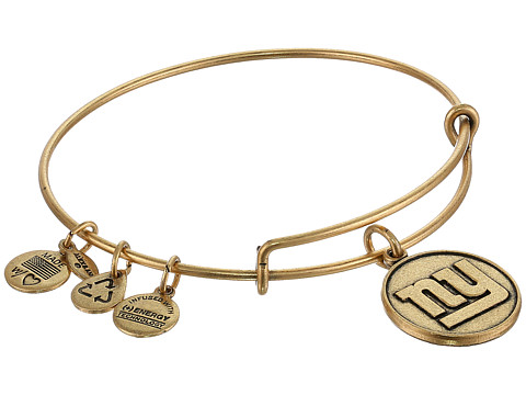 Alex and Ani - New York Giants Logo Charm Bangle (Rafaelian Gold Finish) Bracelet