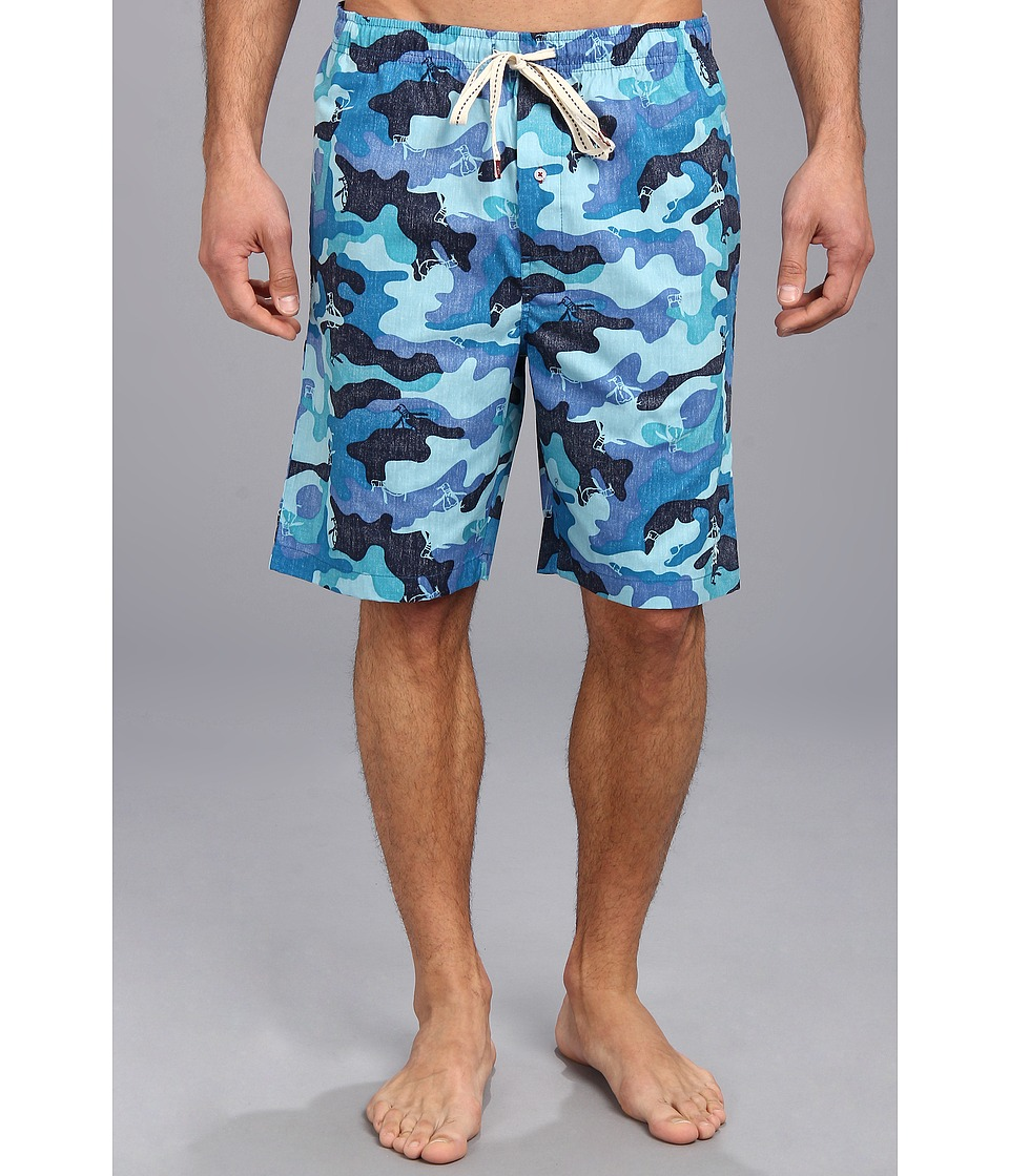 Original Penguin - Woven Sleep Shorts (Camo) Men's Pajama