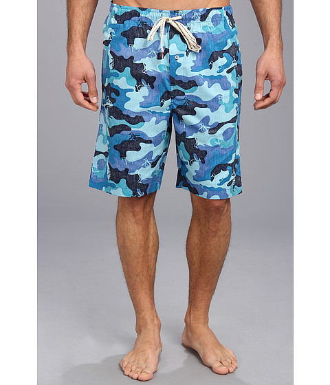 Original Penguin - Woven Sleep Shorts (Camo) Men