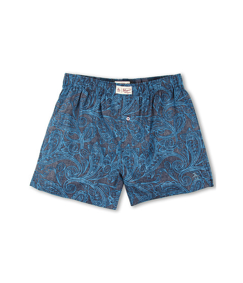 Original Penguin - Paisley Blue Woven Boxer (Paisley Blue) Men