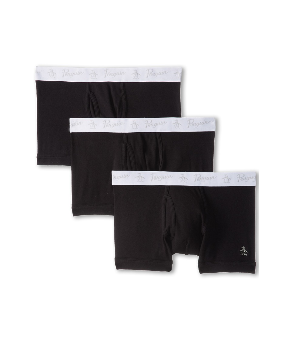 Original Penguin - 100% Cotton 3 Pack Trunk (Black) Men's Underwear