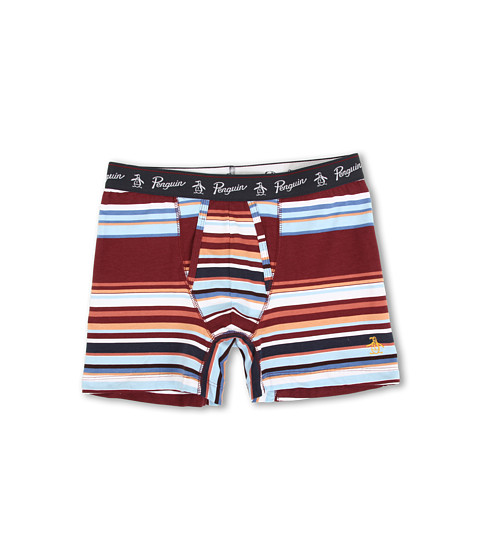 Original Penguin - Surf Stripe Fashion Cotton Stretch Boxer Brief (Surf Stripe Horizontal) Men