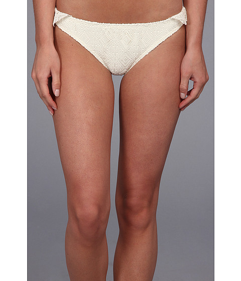 GUESS - Flirty Ruffle Retro Pant (Cream) Women's Swimwear
