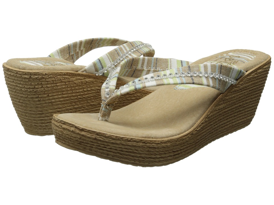 Sbicca - Jennings (Brown Multi) Women's Wedge Shoes