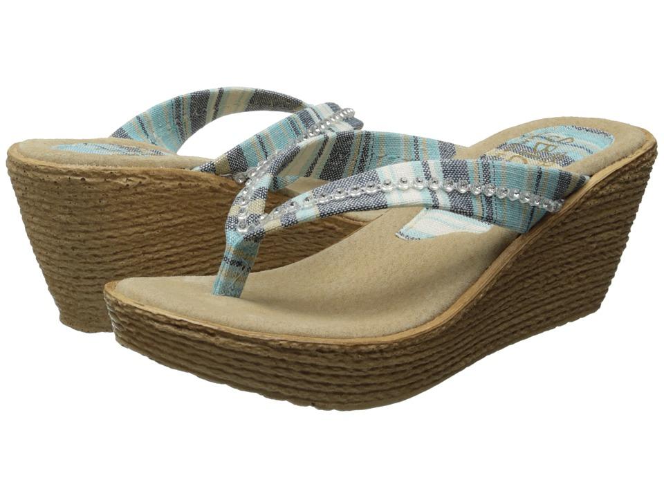 Sbicca - Jennings (Blue Multi) Women's Wedge Shoes
