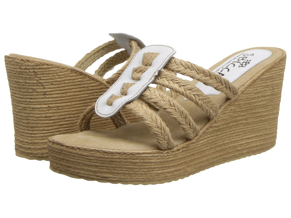 Sbicca - Del Sol (White) Women's Wedge Shoes