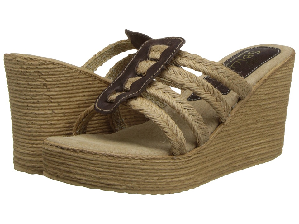 Sbicca - Del Sol (Brown) Women's Wedge Shoes